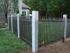 Aluminum with Granite Posts