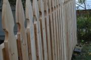Gothic cedar board fence